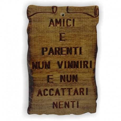 """Quadretto Proverbio """"Amici e Parenti"""""""