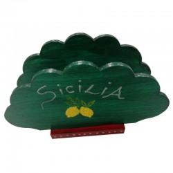 """Portatovaglioli Nuvola """"Sicilia"""" Verde"""