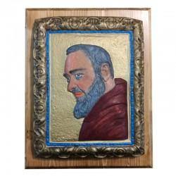 """Quadretto """"San Pio"""" Turchese"""
